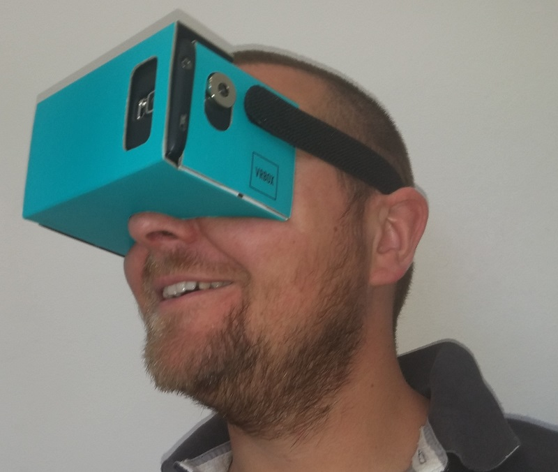 VR-BOX, polskie kartonowe gogle VR.