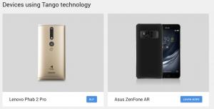 telefony wspierające technologię Tango